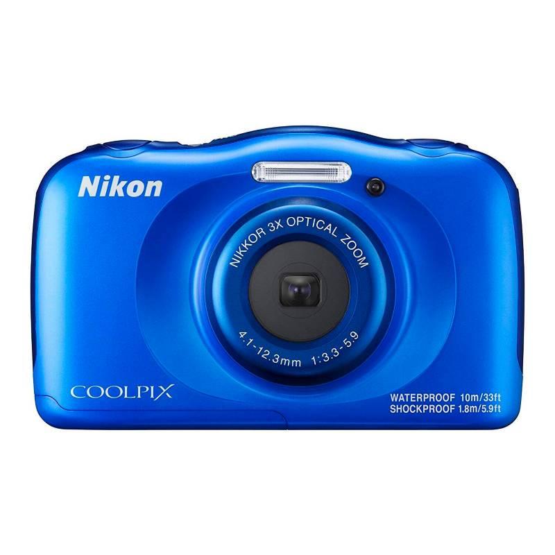 Nikon - Cámara Coolpix W100 - Azul