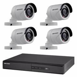 Hikvision - Sistema de seguridad de 4 cámaras + DVR de 8 canales