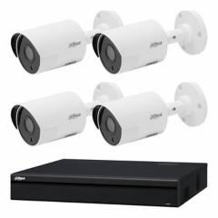 Dahua - Sistema de seguridad de 4 cámaras + DVR de 4 canales