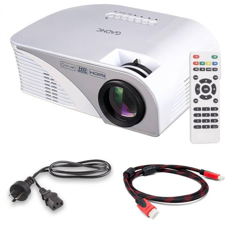 Gadnic - Mini proyector portátil Tv Led 1200l