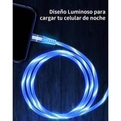 MAKT - Cable USB magnético Led Android iOS Tipo C