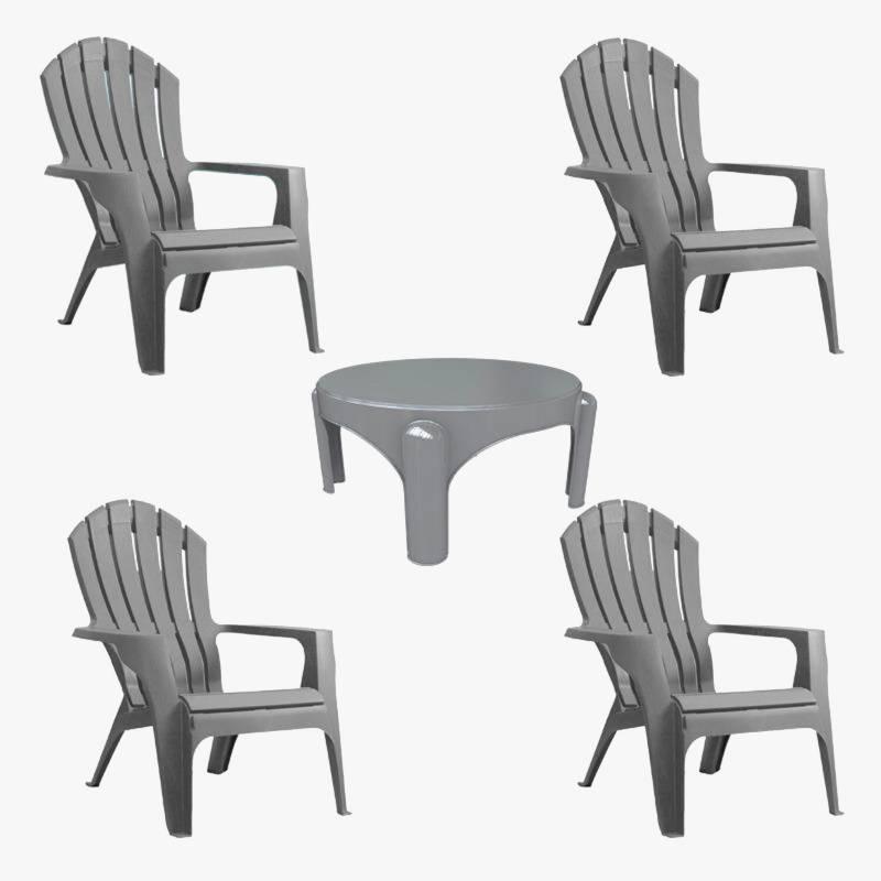 Garden Life - Juego de 4 sillas Miami con mesa Puket
