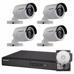 Hikvision - Set seguridad Dvr 8 + disco + 4 cámaras