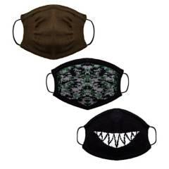 Generica - Pack por 3 tapabocas niño tejidos Shark
