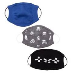 Generica - Pack por 3 tapabocas niño tejidos Skull