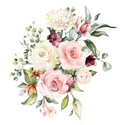 Enamorada del muro - Vinilo troquelado Flores 60x65 cm