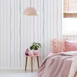 Enamorada del muro - Rollo de papel rayado 10m
