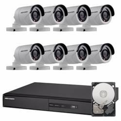 Hikvision - Sintema de seguridad de 8 cámaras + DVR de 8 canales + mouse