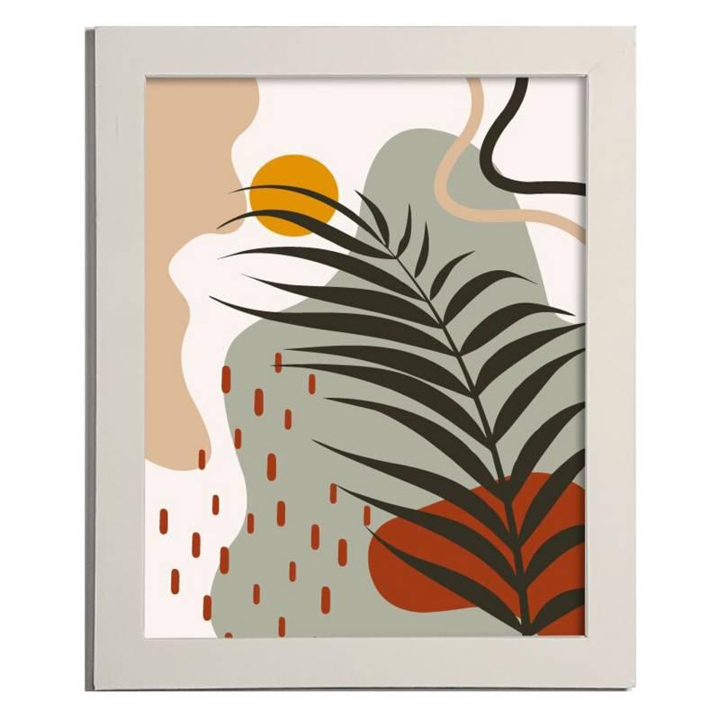 Cuadro Line Art Botánico 42x32 cm