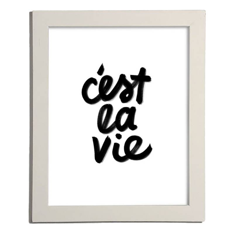 Cuadro Cest la vie  27.5x22.5 cm