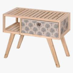 Wooden Create Home - Mesa auxiliar Vintage