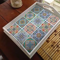 Muresco - Azulejo vinilo autoadhesivos 37x16 cm