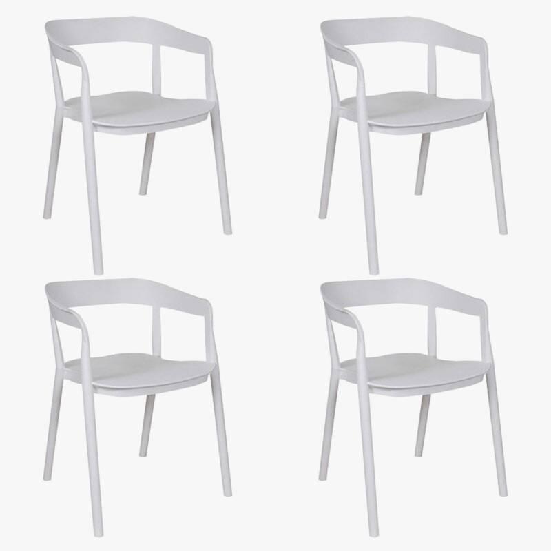 Makom - Juego de 4 sillas de comedor Evoque