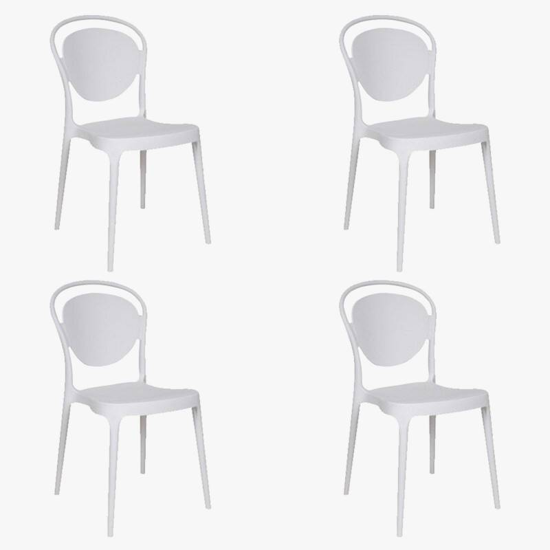 Makom - Set por 4 sillas de comedor King