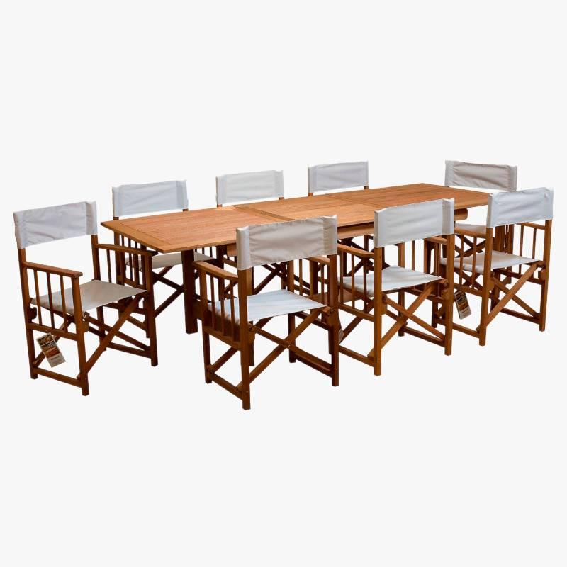 Ecomadera - Juego de jardín Uruguai Directo 8 sillas