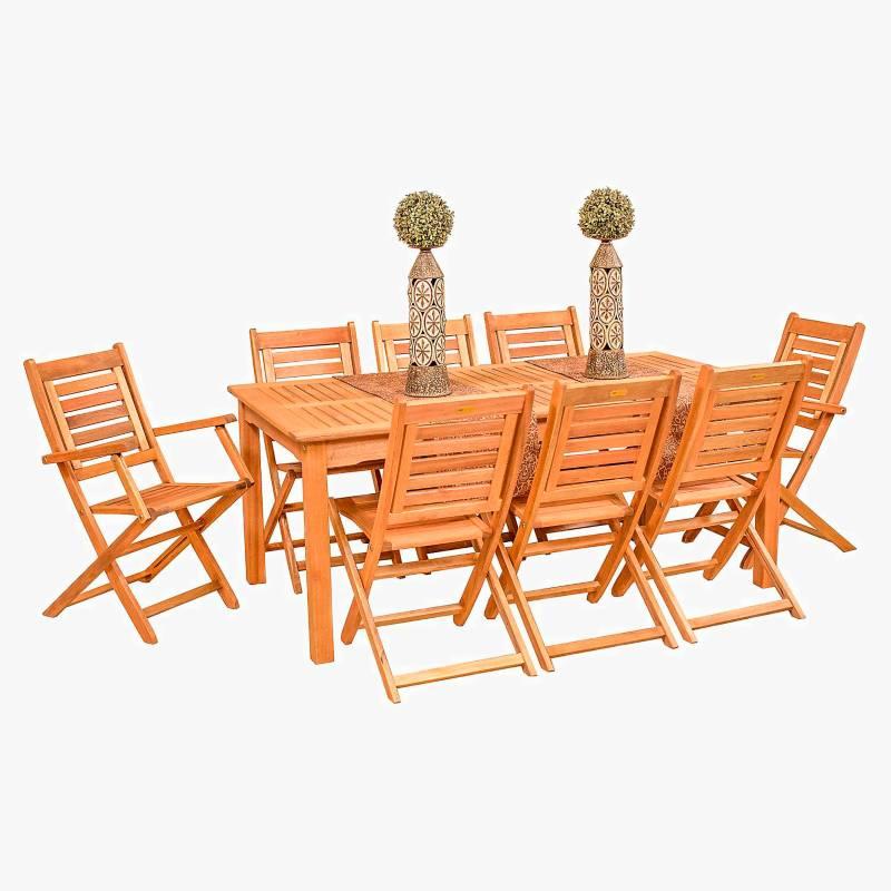 Ecomadera - Juego de jardín Iguazu Amancay 8 sillas