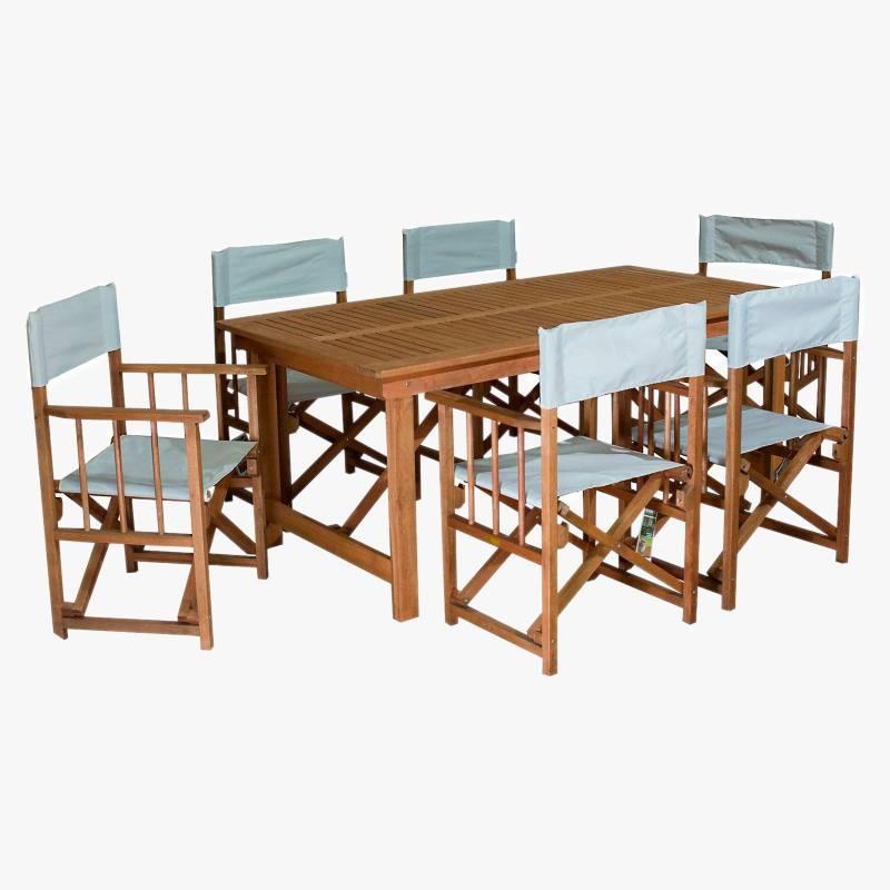 Ecomadera - Juego de jardín Iguazu Director 6 sillas