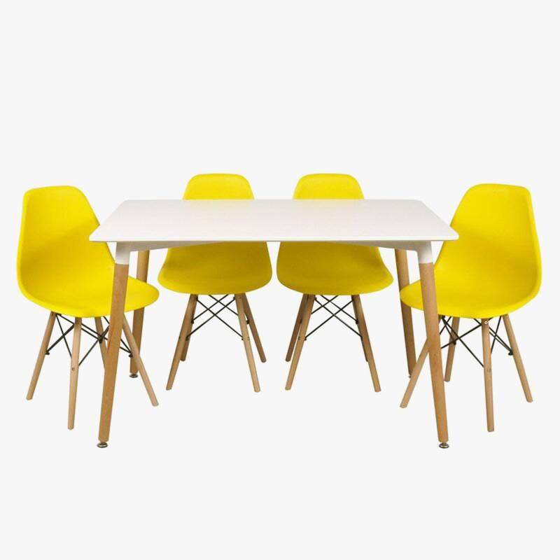 Makom - Juego de mesa + 4 sillas Eames