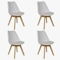 Makom - Set por 4 sillas Eames con almohadón