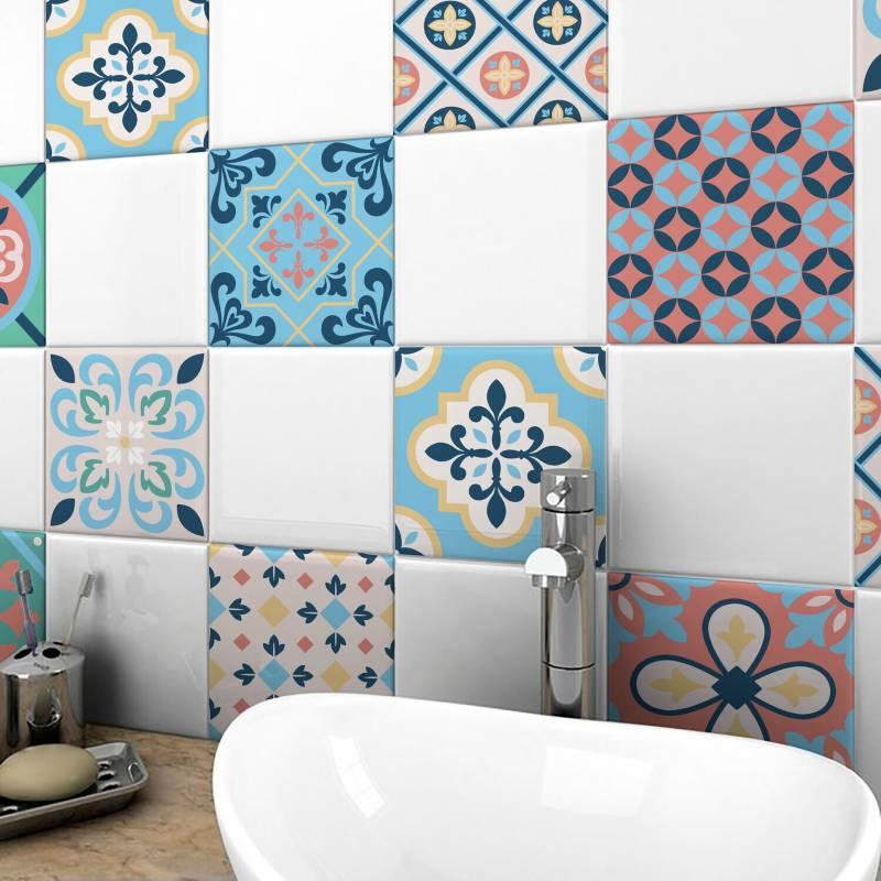 Enamorada del muro - Papel mural azulejos 60x65 cm