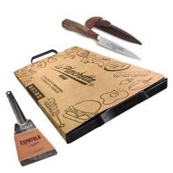 La Planchetta - Planchetta + espátula + cuchillo artesanal Premium