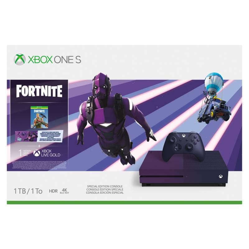 Microsoft - Consola X-Box One S Fortnite edition 23C-00081