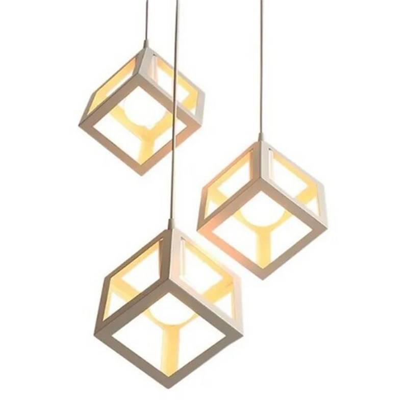 Lámpara colgante 3 luces Trikyvos 16x16 cm