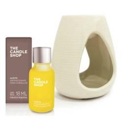 The Candle Shop - Hornito + aceite aromatizante magnolia y vainilla 18 ml
