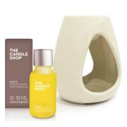 The Candle Shop - Hornito + aceite aromatizante tilo y bamboo 18 ml