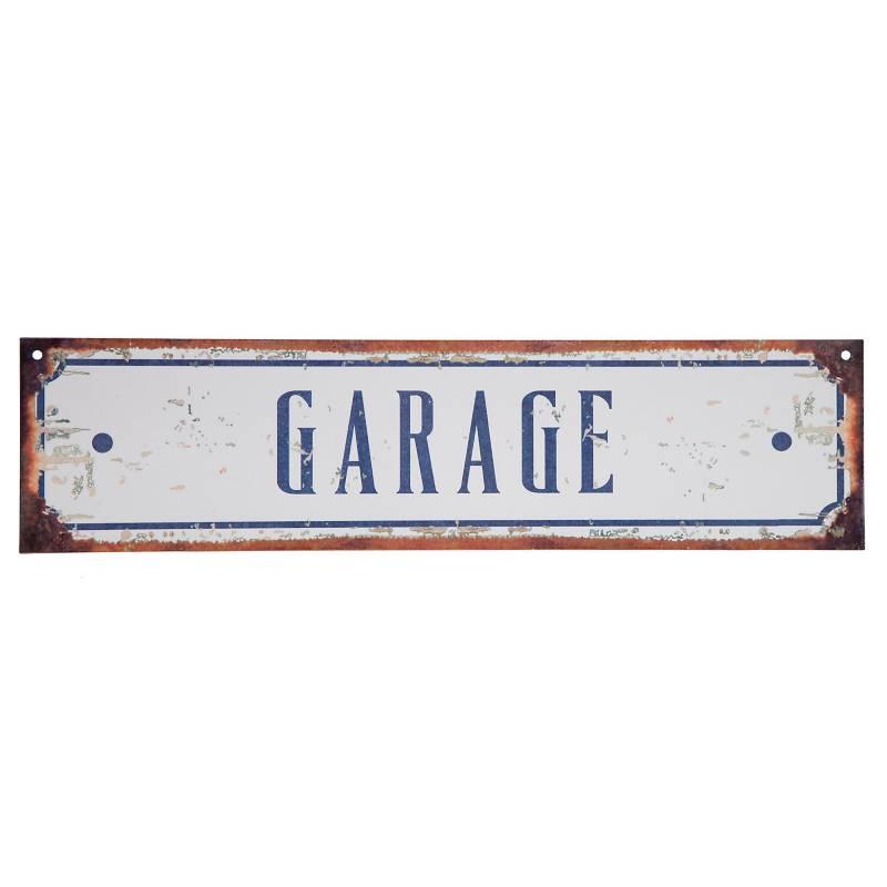 Cartel Garage 10x40 cm