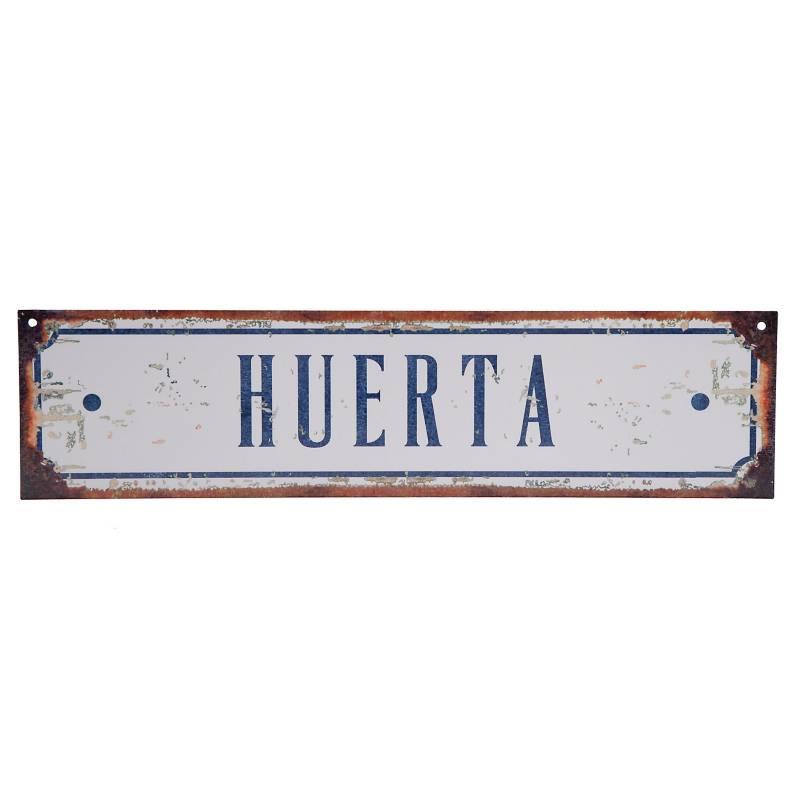 Cartel Huerta 10x40 cm