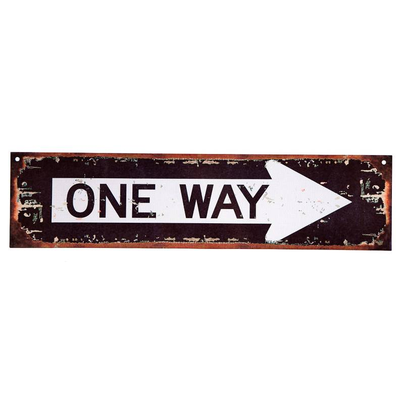 Cartel One way 10x40 cm