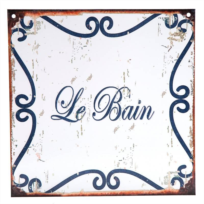 Cartel Le bain 20x20 cm
