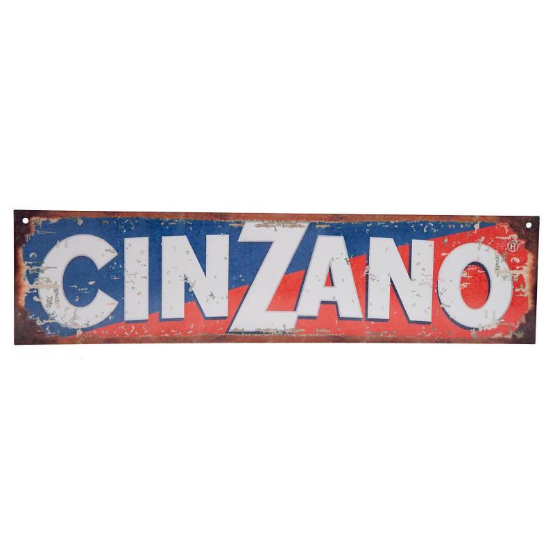 Cartel Cinzano 10x40 cm