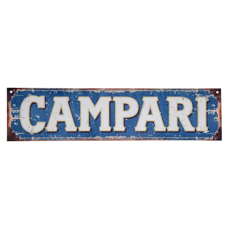 Cartel Campari 10x40 cm