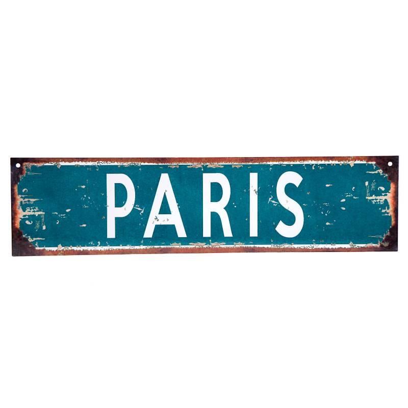 Cartel París 10x40 cm