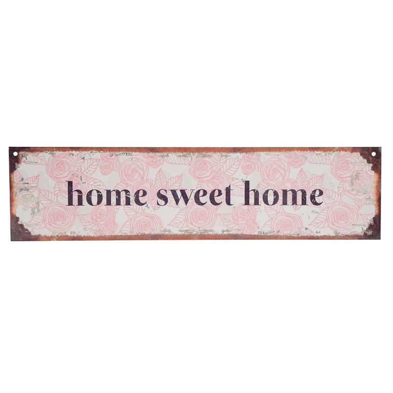 Cartel Home sweet home 10x40 cm