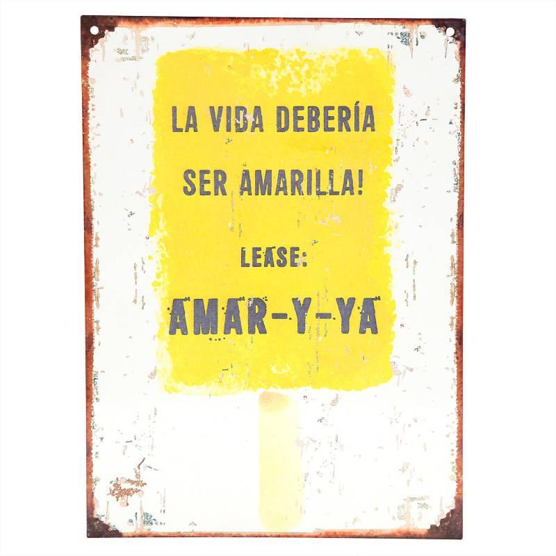 Cartel La vida amarilla 28x20 cm