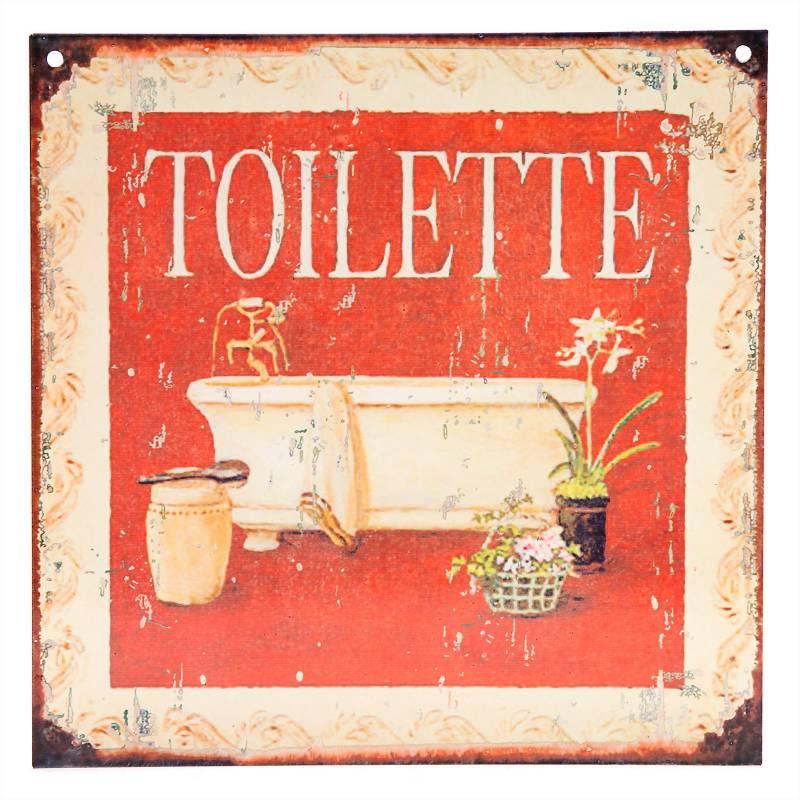 Cartel Toilette 20x20 cm