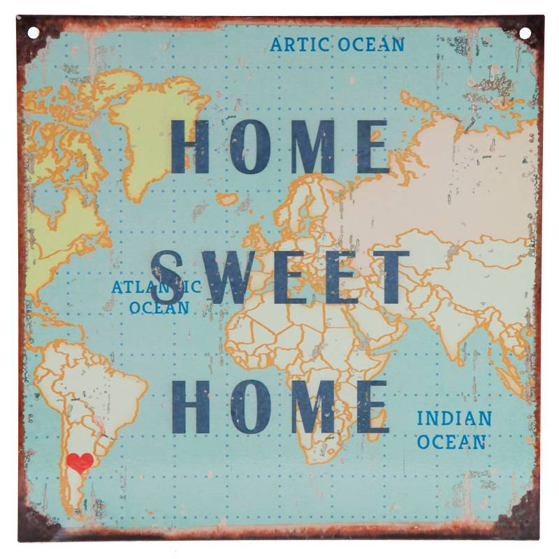 Cartel Home sweet home 20x20 cm