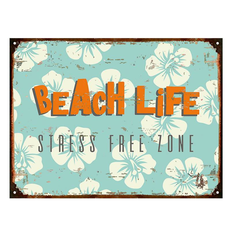 Cartel Beach life 30x40 cm