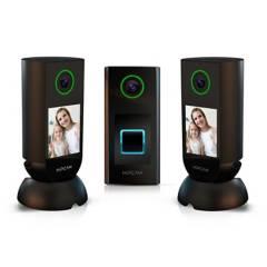 HIPCAM - Set cámaras seguridad Wifi 2 interior + 1 Doorbell exterior