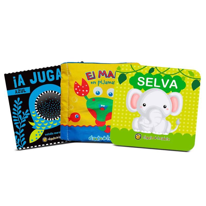 Guadal - Pack x3 - libros para bebes Jugar y aprender