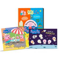 Guadal - Pack x3 - libros infantiles A jugar con Peppa Pig