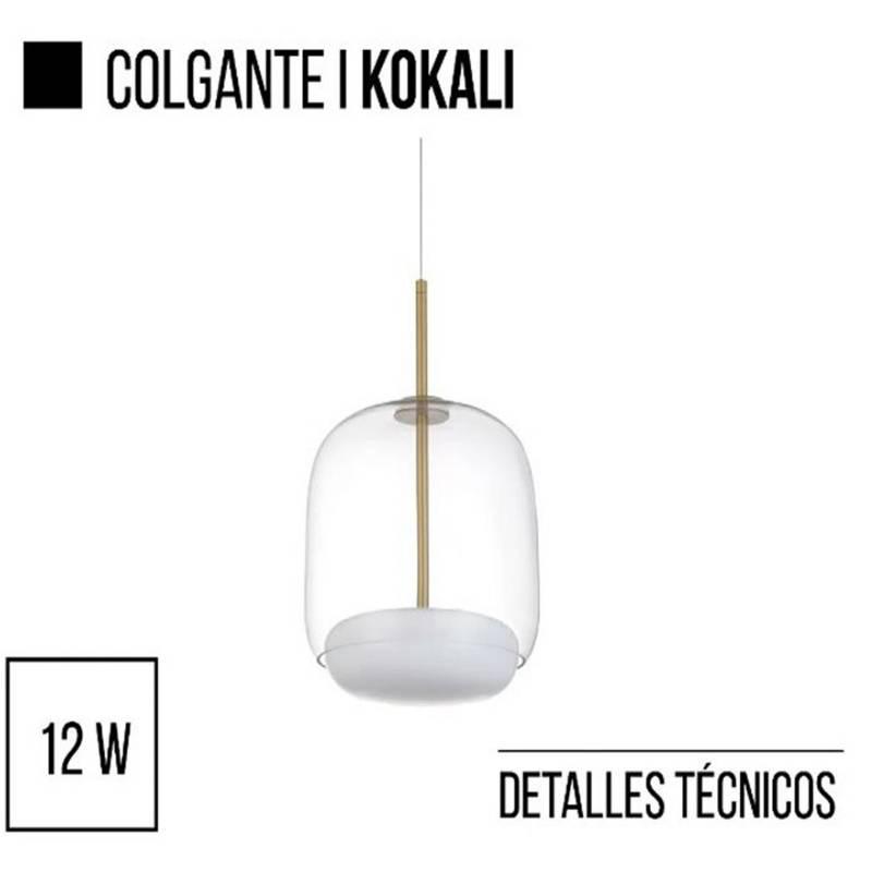 Lámpara colgante Kokali 36x23cm