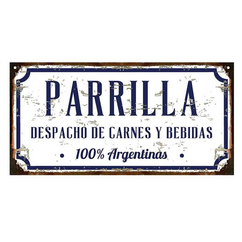 Cartel Parrilla carne Argentina 20x40cm