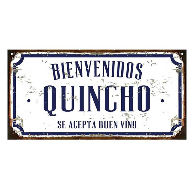Cartel Quincho bienvenidos asador 20x40cm