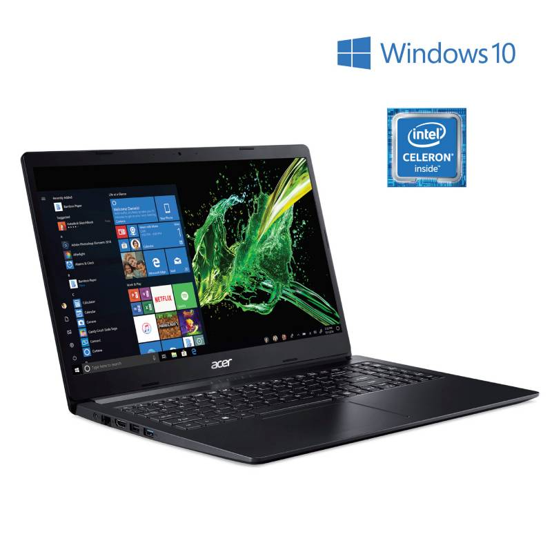Acer - Notebook Intel Celeron A315-34-C7RP 4GB RAM