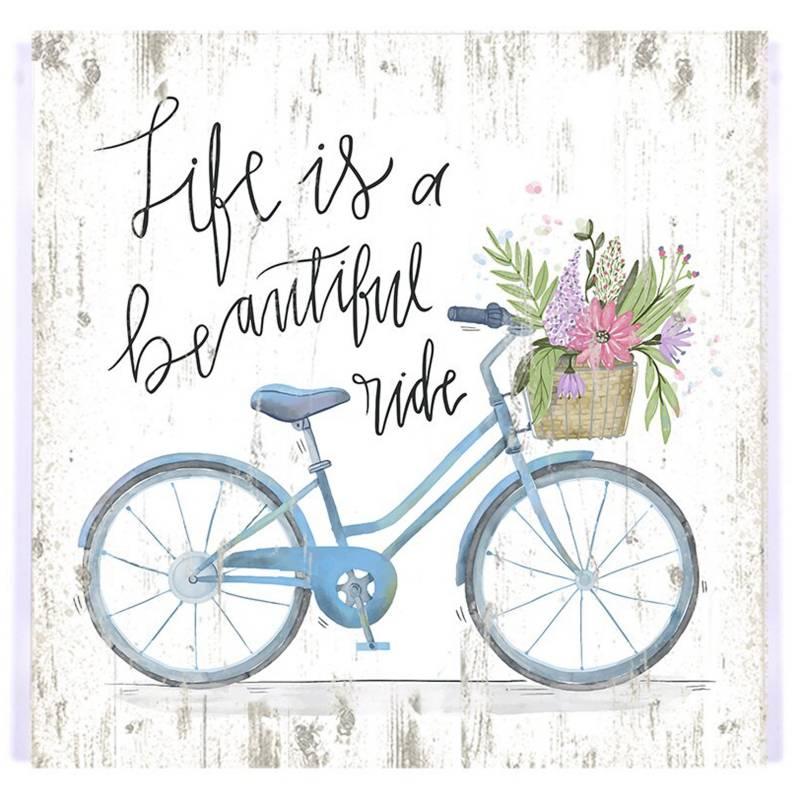 Cuadro Life is a beautiful ride 25x25cm