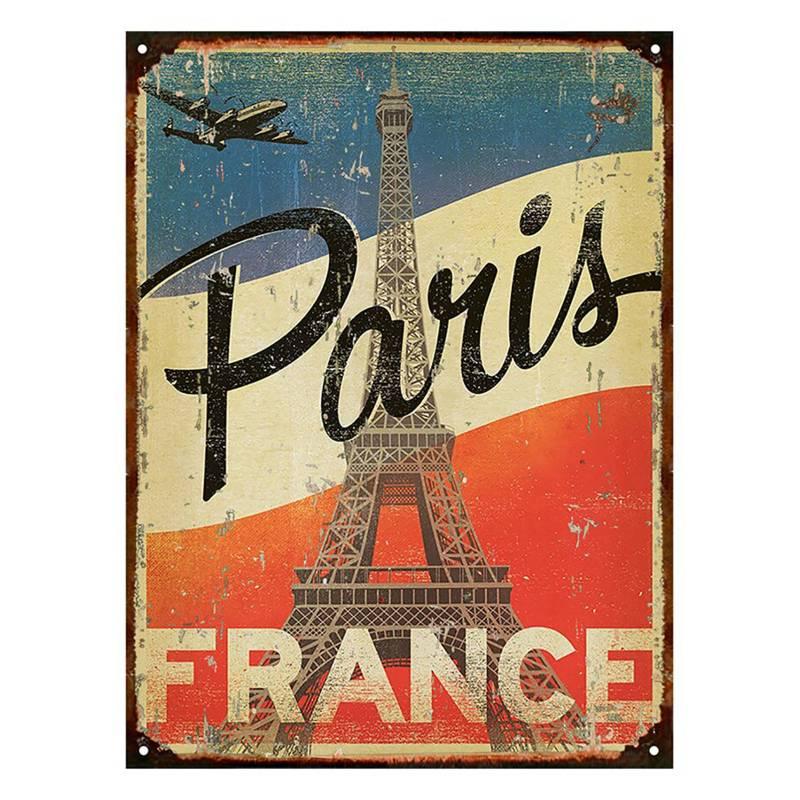 Cartel París Torre Eiffel 30x40cm